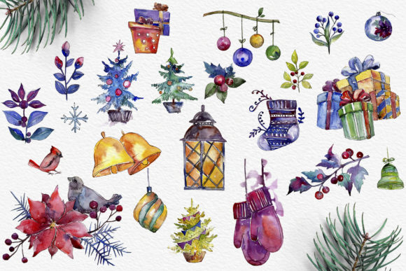 Print on Demand: Set of Illustrations Christmas Miracle Graphic Illustrations By MyStocks - Image 2
