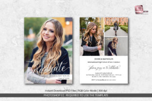 Graduation Announcement Template Graphic Print Templates By PlannerArtInserts