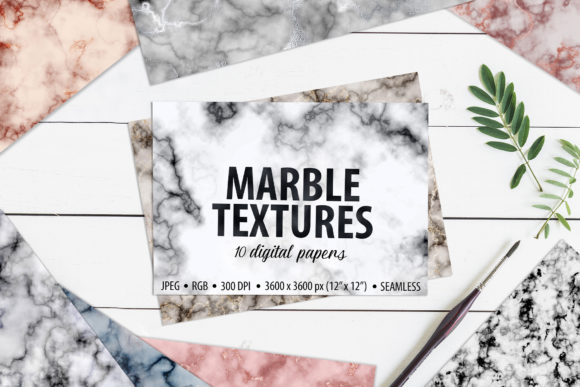 10 Seamless Marble Textures Graphic Textures By CatJello Graphics