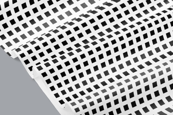 Print on Demand: Black & White Seamless Grid Digital Pape Graphic Patterns By Running With Foxes - Image 4