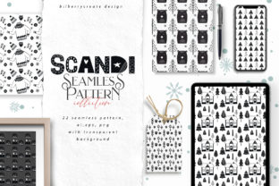 Download Free Scandi Seamless Pattern Graphic By Bilberrycreate Creative Fabrica for Cricut Explore, Silhouette and other cutting machines.