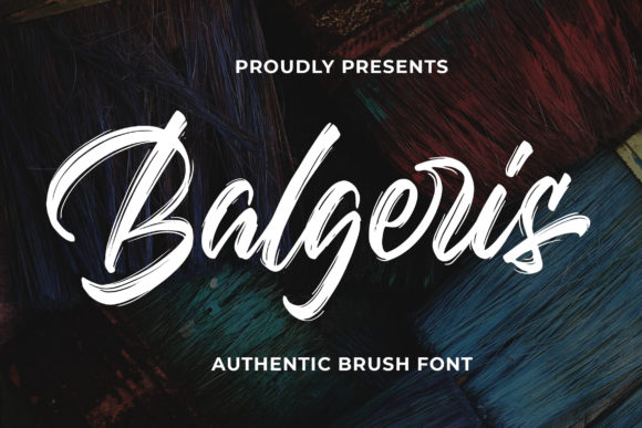 Print on Demand: Balgeris Script & Handwritten Font By Bangkit Setiadi
