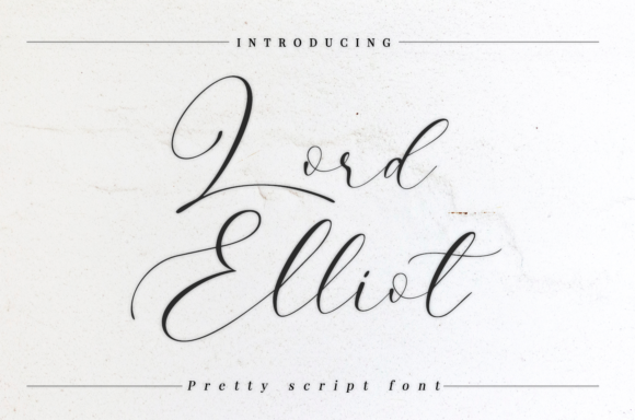 Print on Demand: Lord Elliot Script & Handwritten Font By it_was_a_good_day