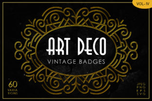 Print on Demand: Art Deco Vintage Badges Vol. IV Graphic Objects By Arterfak Project