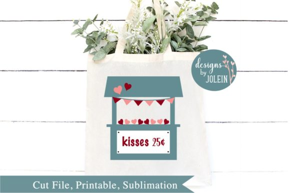 Download Free Kissing Booth Graphic By Designs By Jolein Creative Fabrica for Cricut Explore, Silhouette and other cutting machines.