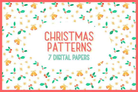 Download Free Christmas Patterns 7 Digital Papers Graphic By Tatiana for Cricut Explore, Silhouette and other cutting machines.