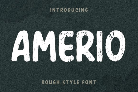 Print on Demand: Amerio Display Font By Subectype