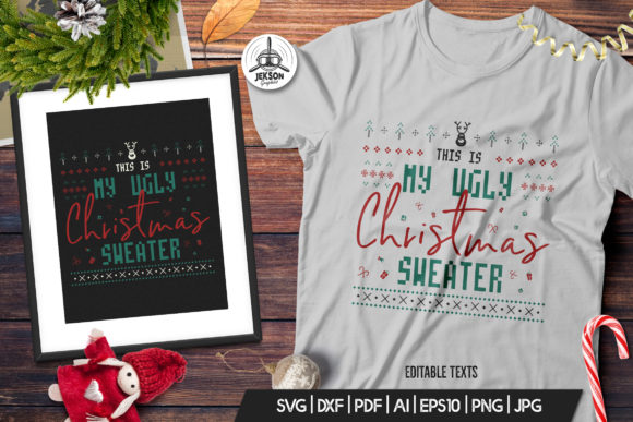 Download Free Retro Ugly Christmas Print Tshirt Design Graphic By for Cricut Explore, Silhouette and other cutting machines.