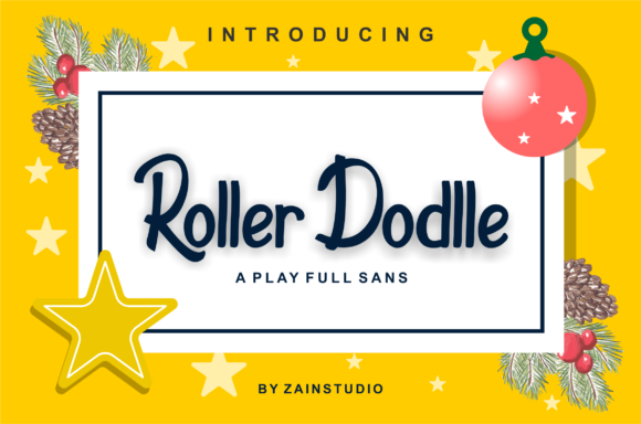 Print on Demand: Roller Dodlle Display Font By zainstudio - Image 1
