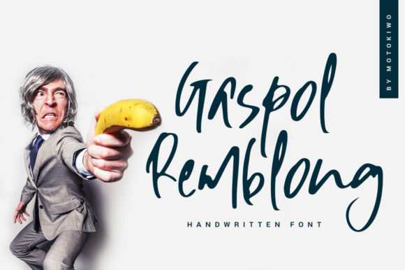 Print on Demand: Gaspol Remblong Script & Handwritten Font By motokiwo