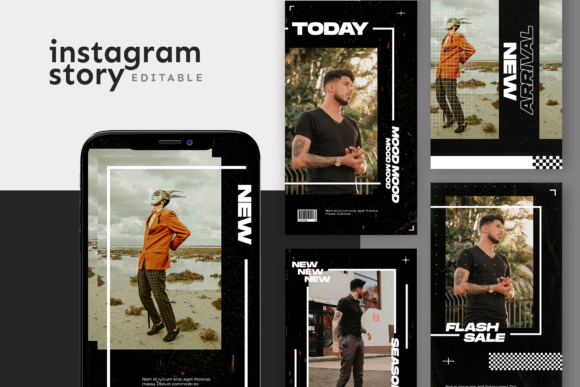 Print on Demand: Instagram Story Template Graphic Graphic Templates By ovoz.graphics
