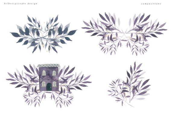 Winter Violet Collection Graphic Illustrations By BilberryCreate - Image 10