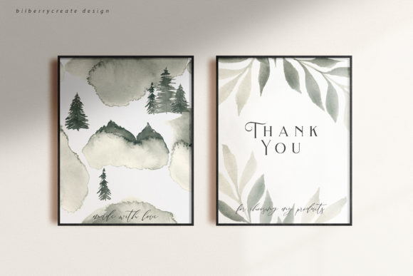 Coniferous Forest Art Collection Graphic Illustrations By BilberryCreate - Image 13