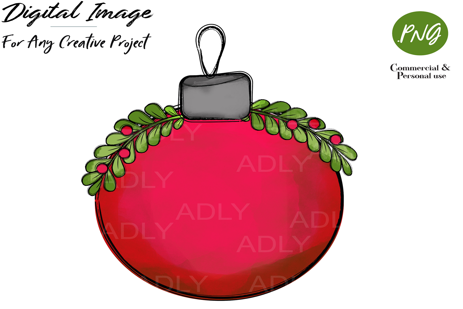 Download Free Red Christmas Ornament Ball Clipart Graphic By Adlydigital for Cricut Explore, Silhouette and other cutting machines.