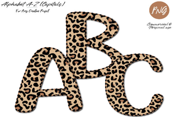 Print on Demand: Leopard Alphabet Clip Art Sublimation Graphic Illustrations By adlydigital