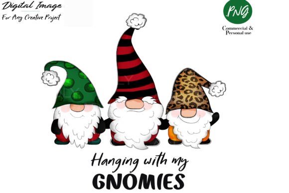 Print on Demand: Gnome Christmas Sublimation Clip Art Graphic Illustrations By adlydigital