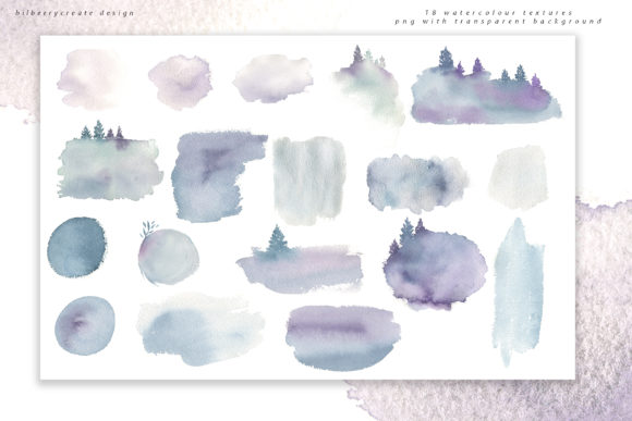 Winter Violet Collection Graphic Illustrations By BilberryCreate - Image 15