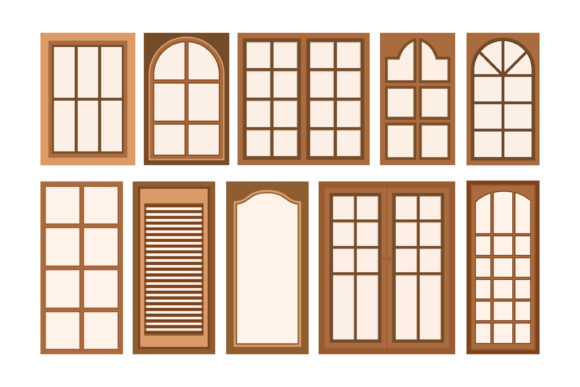 Print on Demand: Vector Illustration of Wooden Window Graphic Graphic Templates By sabavector