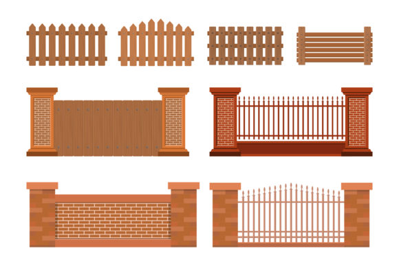 Print on Demand: Vector Illustration of House Fence Graphic Graphic Templates By sabavector