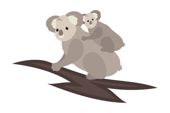 Download Free Koala With Baby Svg Cut File By Creative Fabrica Crafts for Cricut Explore, Silhouette and other cutting machines.