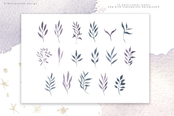 Winter Violet Collection Graphic Illustrations By BilberryCreate - Image 17
