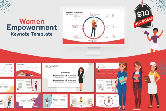 Women Empowerment Keynote Template Graphic Presentation Templates By renure - Image 1