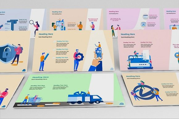 Corporate Life Keynote Template Graphic Presentation Templates By renure - Image 2
