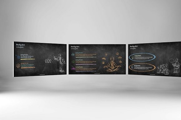 Chalk Doodle Keynote Template Graphic Presentation Templates By renure - Image 2