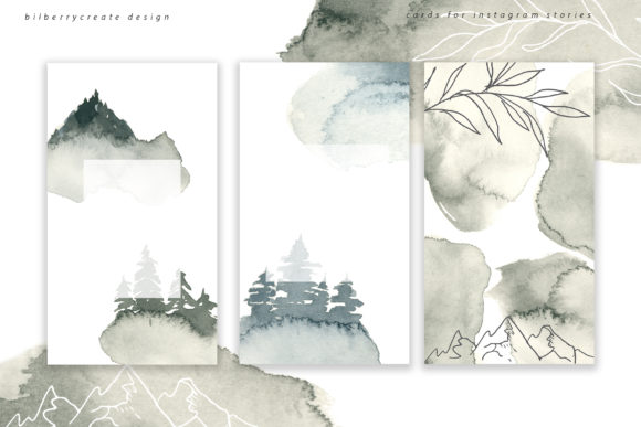 Coniferous Forest Art Collection Graphic Illustrations By BilberryCreate - Image 2