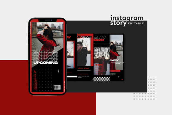 Print on Demand: Instagram Story Template Graphic Graphic Templates By ovoz.graphics - Image 3
