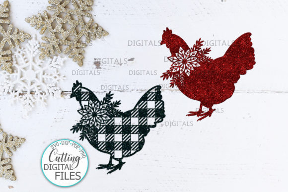 Buffalo Plaid Christmas Chicken Svg Cut Graphic Crafts By Cornelia - Image 2