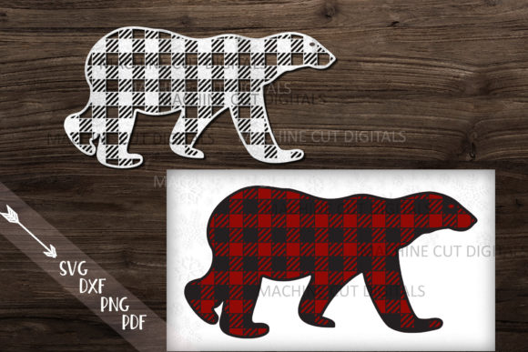 Download Free Polar Buffalo Plaid Christmas Bear Graphic By Cornelia for Cricut Explore, Silhouette and other cutting machines.