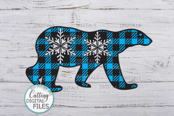 Polar Buffalo Plaid Christmas Bear Graphic Crafts By Cornelia - Image 3