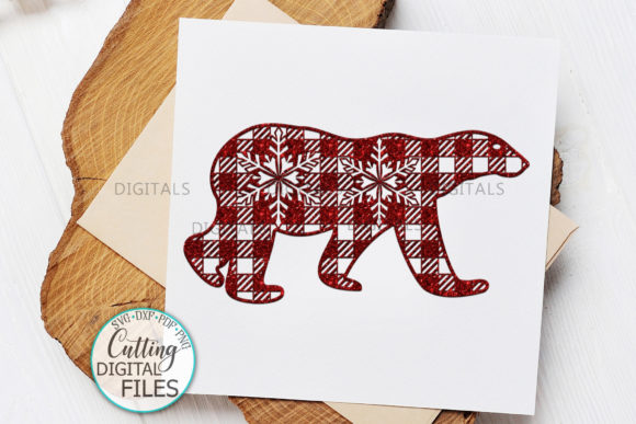 Polar Buffalo Plaid Christmas Bear Graphic Crafts By Cornelia - Image 5