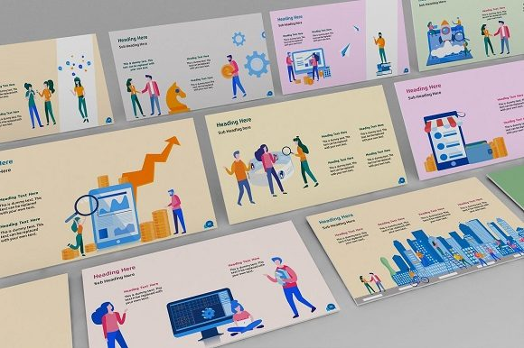 Corporate Life Keynote Template Graphic Presentation Templates By renure - Image 3