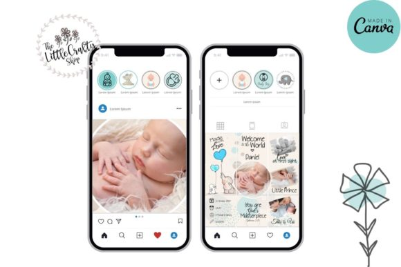 Download Free Baby Boy Instagram Puzzle Template Graphic By The Little Crafty for Cricut Explore, Silhouette and other cutting machines.