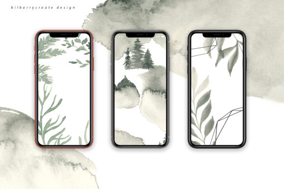 Coniferous Forest Art Collection Graphic Illustrations By BilberryCreate - Image 3