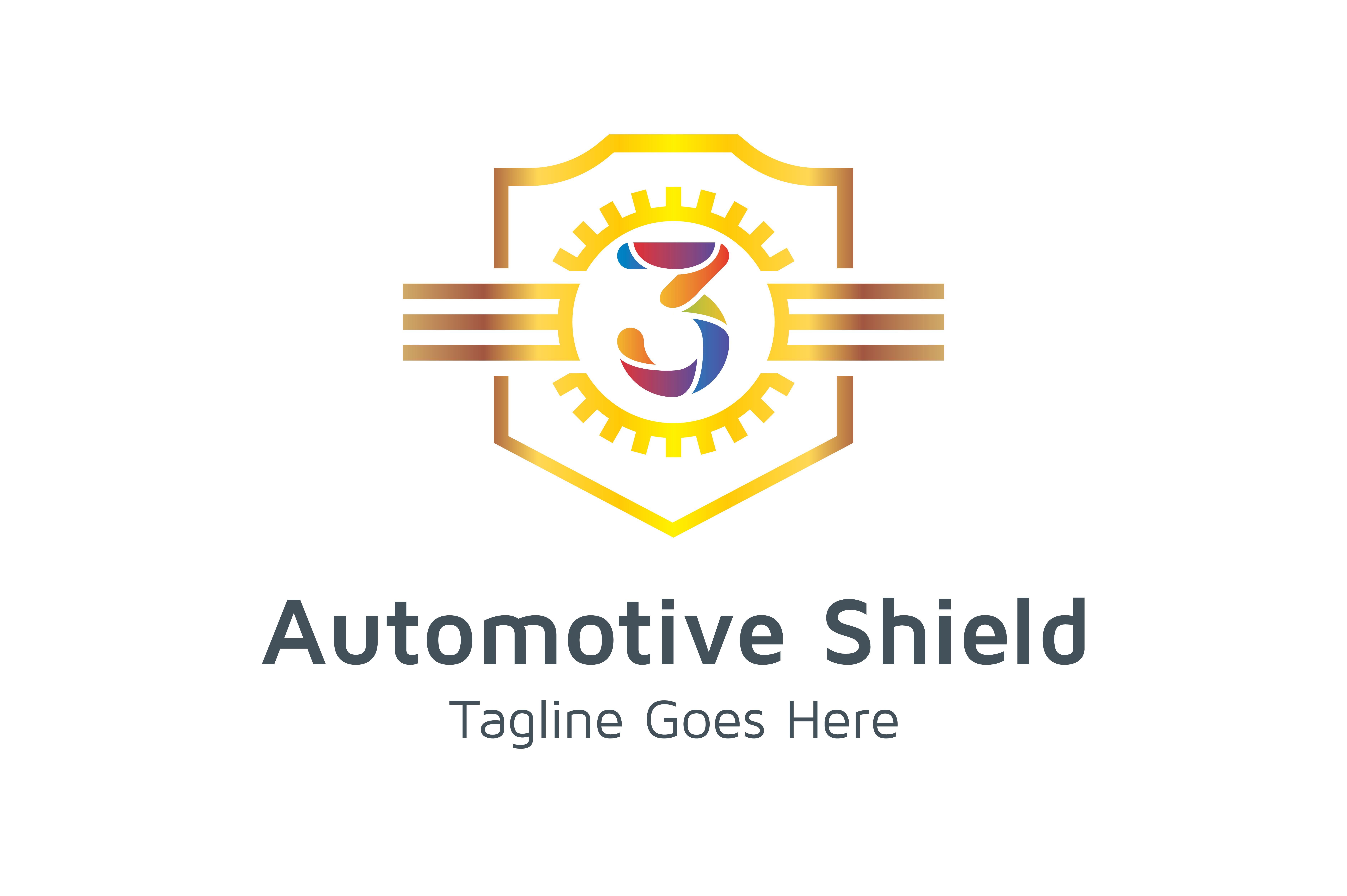 Download Free Automotive Shield Number 3 Graphic By Thehero Creative Fabrica for Cricut Explore, Silhouette and other cutting machines.