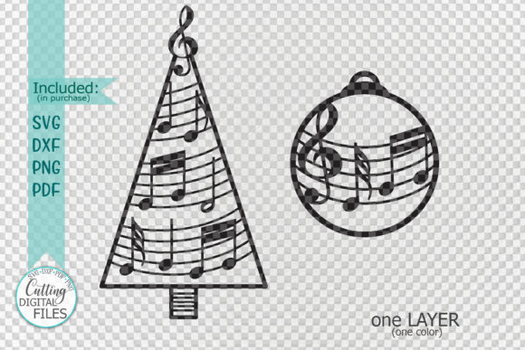 Music Christmas Tree Decorations Svg Cut Graphic Crafts By Cornelia - Image 2