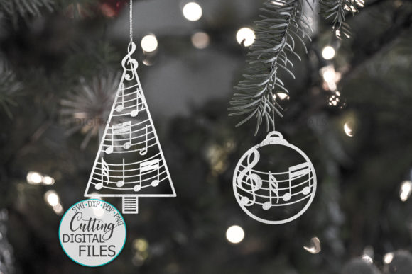 Music Christmas Tree Decorations Svg Cut Graphic Crafts By Cornelia - Image 3