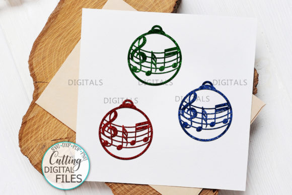 Music Christmas Tree Decorations Svg Cut Graphic Crafts By Cornelia - Image 5