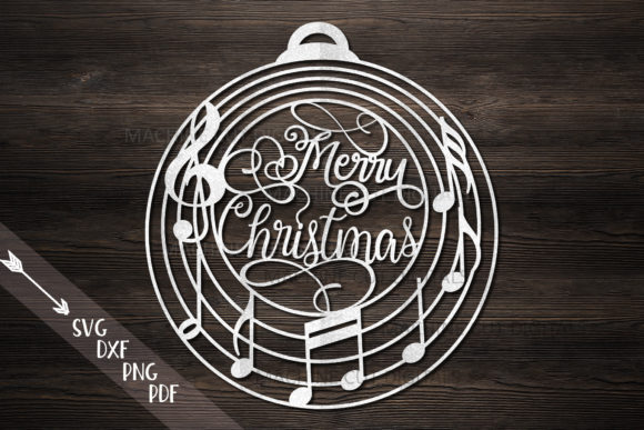 Music Christmas Ornament Bauble Svg Cut Graphic Crafts By Cornelia - Image 1