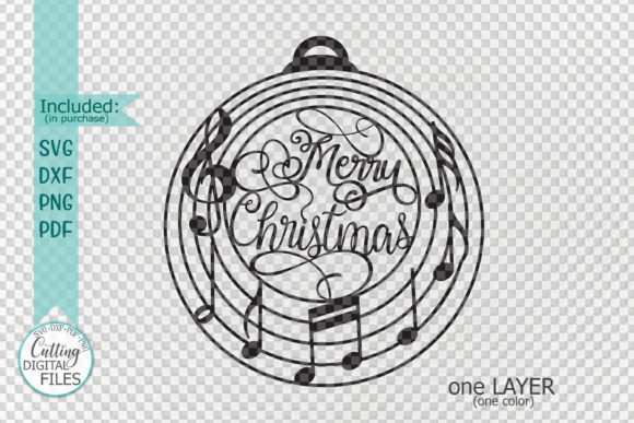 Download Free Music Christmas Ornament Bauble Svg Cut Graphic By Cornelia SVG Cut Files