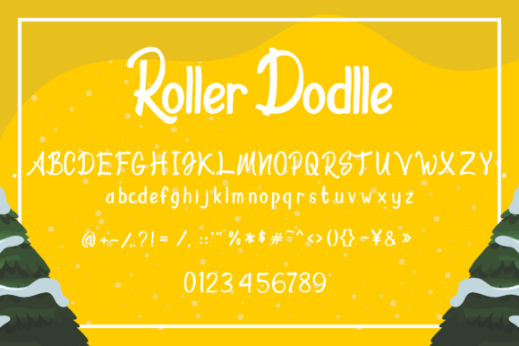 Print on Demand: Roller Dodlle Display Font By zainstudio - Image 5