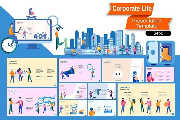 Corporate Life Keynote Template Graphic Presentation Templates By renure - Image 9