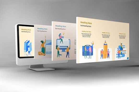 Corporate Life Keynote Template Graphic Presentation Templates By renure - Image 5