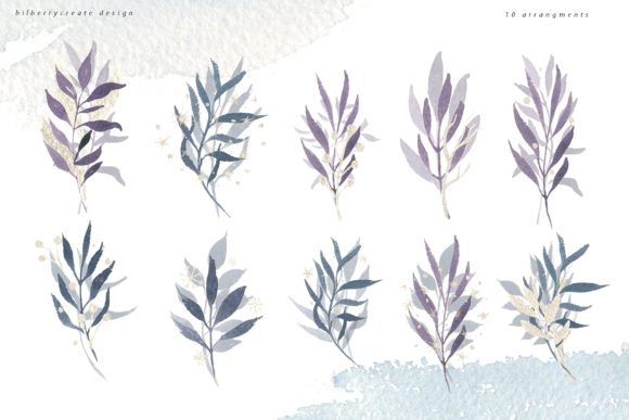 Winter Violet Collection Graphic Illustrations By BilberryCreate - Image 7