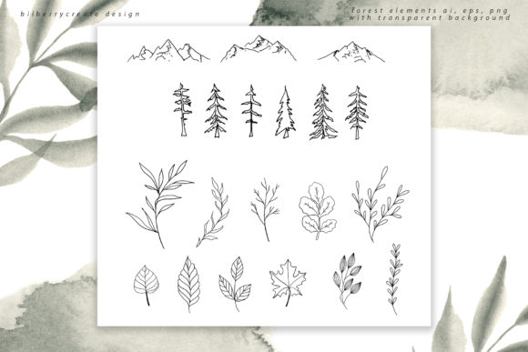 Coniferous Forest Art Collection Graphic Illustrations By BilberryCreate - Image 7
