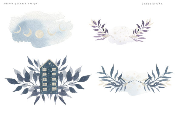 Winter Violet Collection Graphic Illustrations By BilberryCreate - Image 9