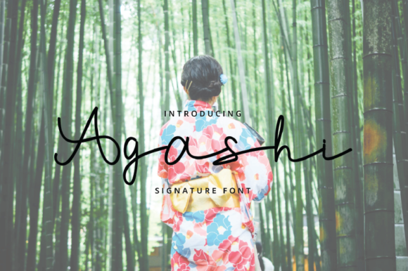 Print on Demand: Agashi Script & Handwritten Font By nirmala.graphics